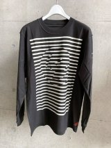 PHINGERIN (BORDER P L/S TEE) CHARCOAL