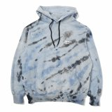 HOMBRE NINO (TIE DYE HOODED PULL OVER) SAX