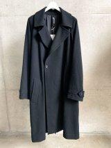 Ground Y (RAGLAN BIG COAT) BLACK